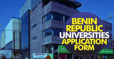 2019 Benin Republic Universities Application Form