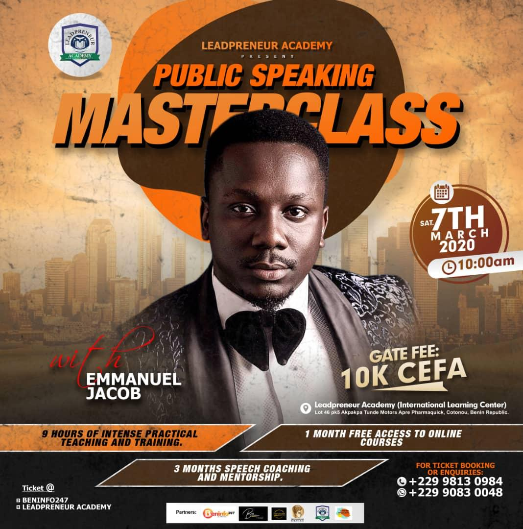 Ultimate public speaking Masterclass in Benin Republic 2020