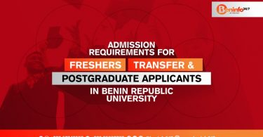 requirements for admission in Benin Republic Universities